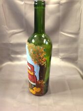 """Hand Painted Wine Bottle. Red """"Punkin"""" Truck."""
