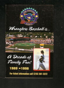Wichita Wranglers--1998 Pocket Schedule--Rand Graphics--Royals Affiliate