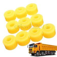10Pcs 10mm Inner Dia Yellow Rubber Shock Absorber Bushings Part for Auto Car
