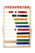 Wooden Abacus Beads Rainbow Educational Preschool Math Learning Counting Toys