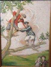 "Antique Illustration Norman Anthony Esq.? (1889-1968) ""Dandy Golfers"" Gouache"
