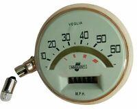 Lambretta Li Series 1,2 60 Mph Complete Speedometer Italian Thread With Bulb