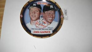 MICKEY MANTLE -2401 Games- 1995 COLLECTORS PLATE--THE HAMILTON COLLECTION #1