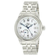 Ball Men's Watch Trainmaster Power Reserve White Dial Bracelet NM1056D-S1J-WH