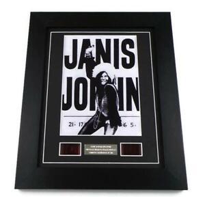 JANIS JOPLIN FILM CELLS RARE Music Memorabilia Framed Vintage 35mm Display Gifts