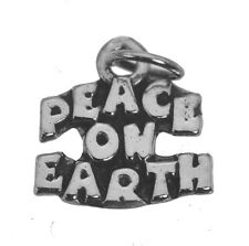 Christmas Song Peace on Earth Pendant Charm Sterling Silver 925 Jewelry New LOOK