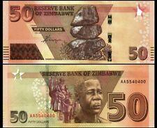 ZIMBABWE 50 DOLLARS 2020 (2021) YEAR P NEW UNC (-AA-PREFIX)