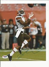 TAYLOR GABRIEL CLEVELAND BROWNS STAR HAND SIGNED COLOR 8X10 W/ PSA COA Y60939