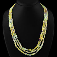 AMAZING 3 STRAND 295.00 CTS NATURAL RICH MULTICOLOR FLOURITE BEADS NECKLACE