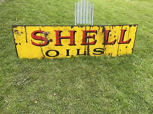 Enamelled Vintage Shell Oils Sign