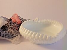 Fenton heart shape milk glass candy dish