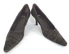 Costa Blanca Shoes Sz 9N Womens Brown Crinkled Velvet Pointy Toe Pump 9 N Narrow
