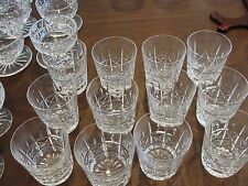 "WATERFORD KYLEMORE 12 OLD FASHIONED GLASSES 3 5/8"" X 3 1/4"""