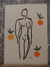 MATISSE   LITHOGRAPHY WITH C.O.A.