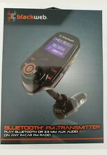 BlackWeb Lcd Bluetooth Fm Transmitter, Integrated Controls for Hands-Free *New*