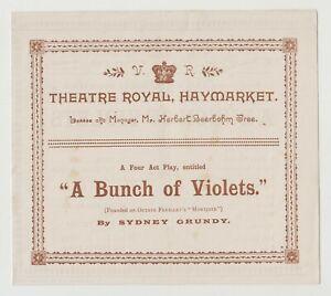 "ANTIQUE VICTORIAN ERA PROGRAMME ""A Bunch of Violets"" Theatre Royal Haymarket"
