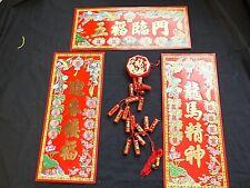 Artificielle Rouge Chinoise M pétards 3 XL Lucky Bannière Mariage Fête D'Anniversaire