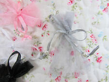 """100 Pearl Bead Organza Gift Bag 2x3"""" Small Wedding Favor Pouch/Party PO-1 Silver"""