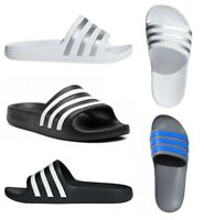 Adidas Boys Sliders Adilette Kids Aqua Slides Shoes Flip Flops Slide Sandal