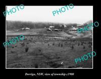 OLD POSTCARD SIZE PHOTO OF DORRIGO NSW VIEW OF TOWNSHIP c1900