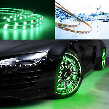 New 4x Green LED Strip Under Car Underglow Underbody Neon Light Kit For Ford