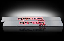 2009-2014 F150 SVT Raptor Brushed Billet Door Sill Plates w/ Red Illumination