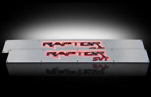 2009-2014 F150 SVT Raptor Brushed Billet Door Sill Plates w/ Red Illumination