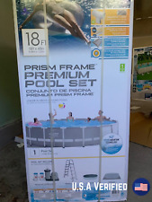 Intex Prism Frame Round 18 Foot x 48 Inch Pool Set with Filter