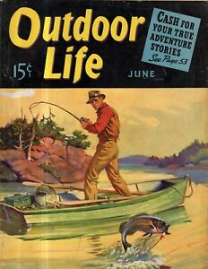 1940 Outdoor Life June - How to do the Quick Draw; Grizzlies; Sharks;Coues Deer