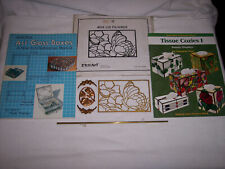 STARTER KIT FOR MAKING STAINED GLASS BOXES WITH 2 BOOKS, FILIGREES & HINGES