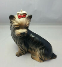 """New listing Yorkshire Terrier Yorkie Dog Goebel With Red Bow 6"""" Tall"""