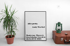 /'I Never Read/' Poster Andy WarholPrint 50x70cm Other Sizes Mid Century Modern