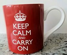 Keep Calm and Carry On Red Coffee Mug Cup Wild & Wolf British Crown Inside