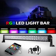 5D+ 32inch 600W CREE RGB Led Light Bar Strobe Flash Multi Color Rock Ford Disco