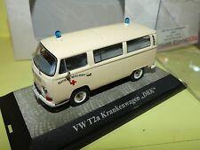 VW COMBI T2a KASTENWAGEN DRK Ambulance PREMIUM CLASSIXXS 1:43