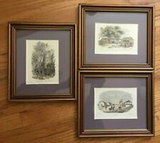 Lot of 3 California historical hand colored prints Olwen Caradoc Evans framed