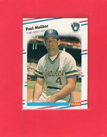 1988 Fleer baseball #169  PAUL MOLITOR  Milwaukee Brewers Hall of Fame
