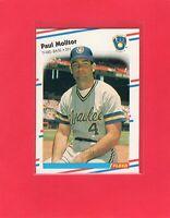 1988 Fleer baseball #169  PAUL MOLITOR  Milwaukee Brewers Hall of Fame