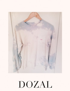 VINEYARD VINES Texas Logo L/S TEE SIZE Small custom Bleached by me pink Clouds $