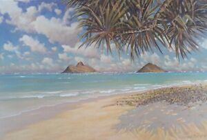 HAND SIGNED ~ Windward Oahu Seascape~by RUSSELL LOWREY~HAWAII Fine Art Print