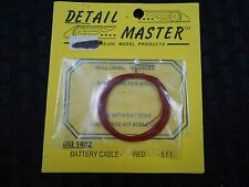 1:25 PLASTIC MODEL CAR PARTS DETAIL MASTER DM 1402 RED BATTERY CABLE AMT MPC