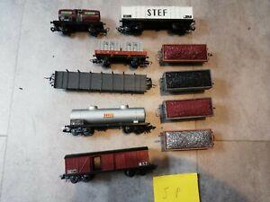 Lot de 10 wagons ho   jouef Lima roco Fleischmann