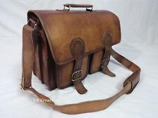 """Real Leather Briefcase Shoulder Bag 15.6"""" Laptop Satchel Business Messenger Bag"""