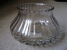 Vintage Reclaimed Clear Glass Lampshade - ridged wall light chandelier