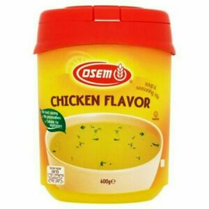 Osem Clear Seasoned Broth Chicken Flavour Soup & Seasoning Mix (4 Tubs of 400g)