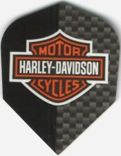 Harley Davidson Black & Carbon Logo Dart Flights: 3 per set