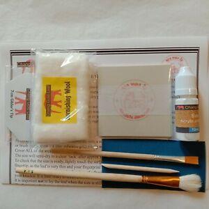 100 gold leaf sheets 10ml adhesive glue size, gilding mop brush, Gilder's Tip