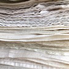 Antique Napkins Danish White Linen Wedding Cotton Table Kitchen Denmark Rustic