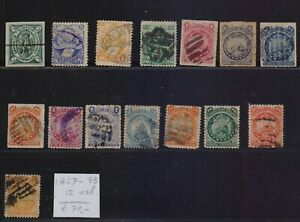 ! Bolivia 1867-1893.  Lot Of 15 Stamp. YT#. €70.00!
