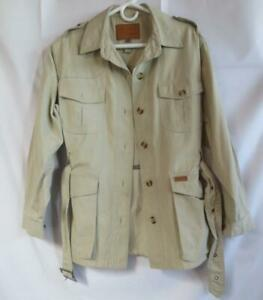 Ladies OUTBACK TRADING Button Front Khaki Hunting Shirt Jacket sz S Excellent !